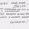 A csernelyi szülők postaládáiban talált szórólap egyik példánya