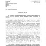 Az Oktatási és Kulturális Minisztérium levele (1. oldal)