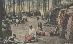Cigányok a sellyei erdőben az 1800-as évek végén