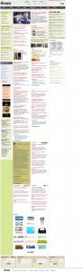Hirszerzo.hu címlap, 2009. augusztus 27.