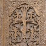 Kőfaragás Jeruzsálem örmény negyedében, a Szent Jabab székesegyházban