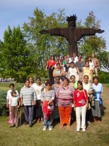 A Dzsaj Bhím Közösség tagjai elzarándokoltak a Máriapócsi Kegyhelyre 2009. szeptemberében