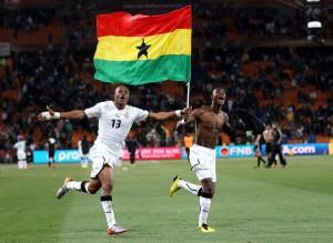 Ghánai zászlóval